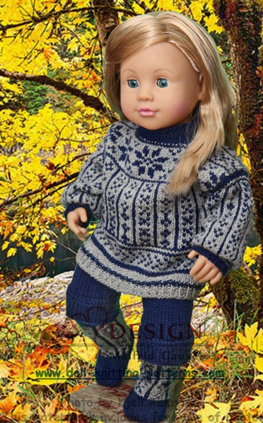 Puppenkleidung stricken | Doll-knitting-patterns from Malfrid Gausel ...