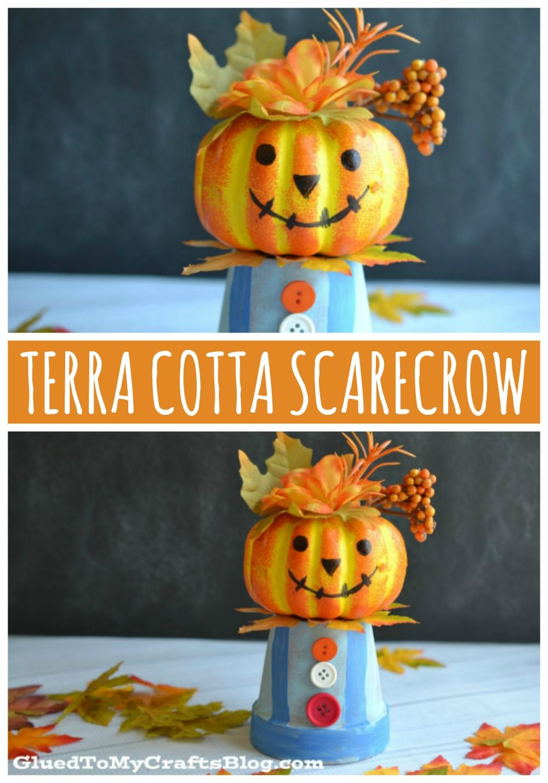 Terra Cotta Pot Scarecrow Kid Craft In 2020 Fall Crafts For Kids Fall Halloween Crafts Crafts For Kids
