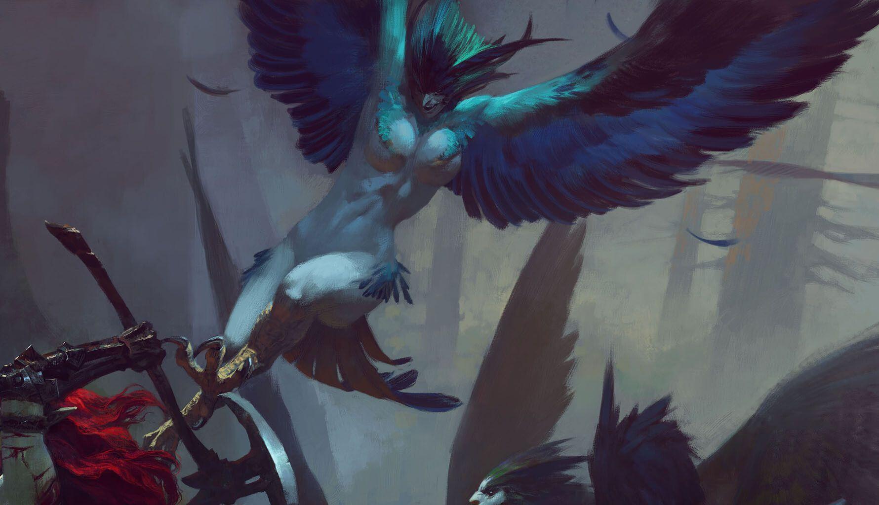 Artstation Fighting In The Harpy Nest Bayard Wu Beast Creature Character Art Fantasy Art