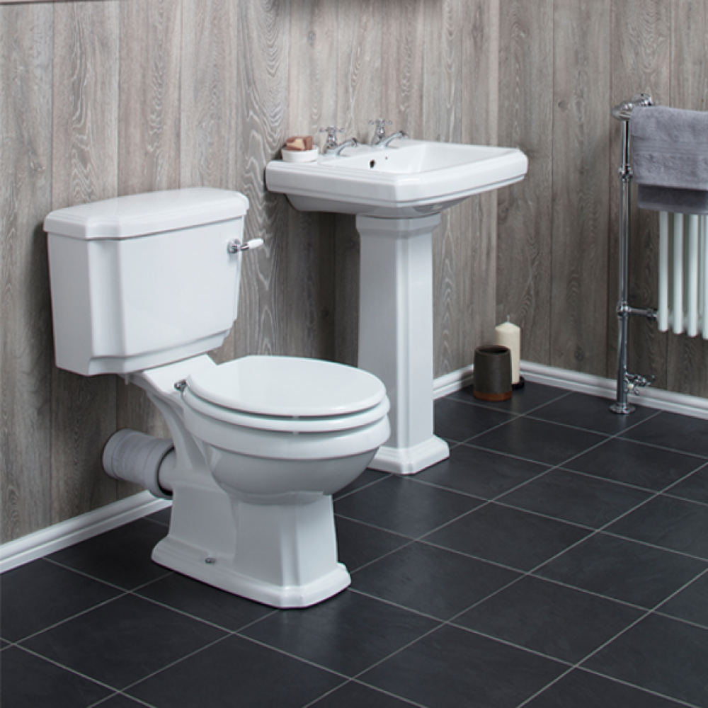Windsor Basin Toilet Suite A Strikingly Four Piece Set With A Superbly Ornate Design And Immensely Sturdy Ceramic Construction Th Toilet Suites Toilet Basin