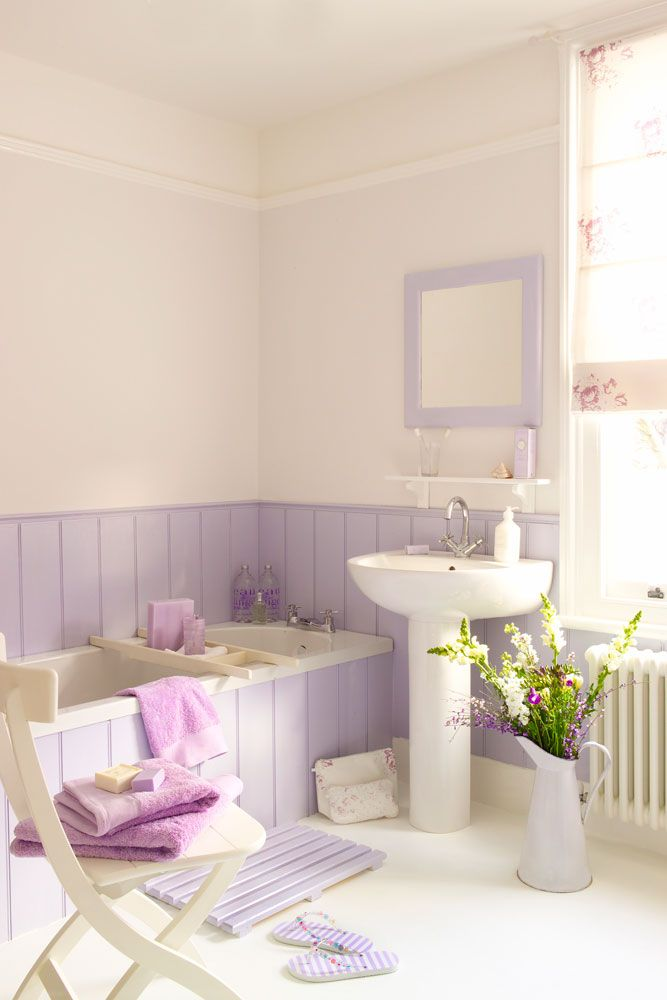 Bathroom Beauties - Schönheiten fürs Bad Pastels, Shabby and Lilacs - steinwand für badezimmer