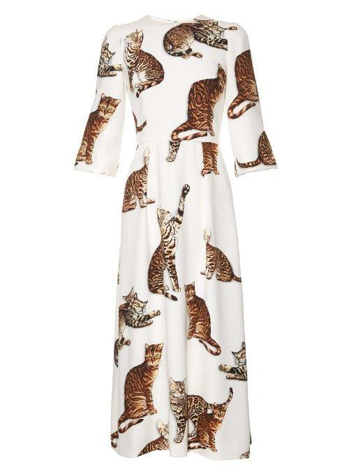 9894be15b63 Dolce   Gabbana Cat-print midi dress