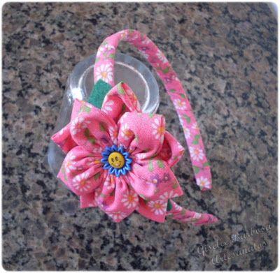 Giselle Barbosa Artesanatos: Tiara de tecido II