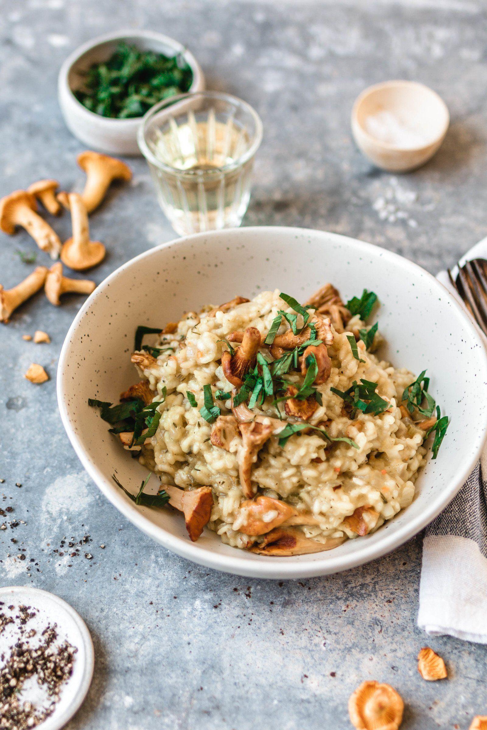 Veganes Risotto mit Pfifferlingen · Iss das! Foodblog • Vegane Rezepte • Geschichten  – Esseeen