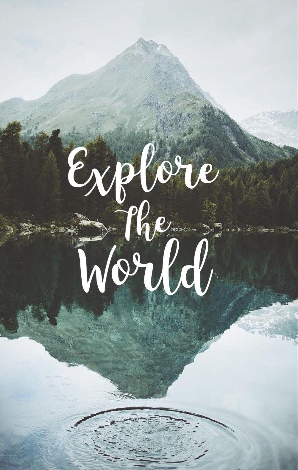Follow @devonbbeck | Wallpaper quotes, Travel the world ...