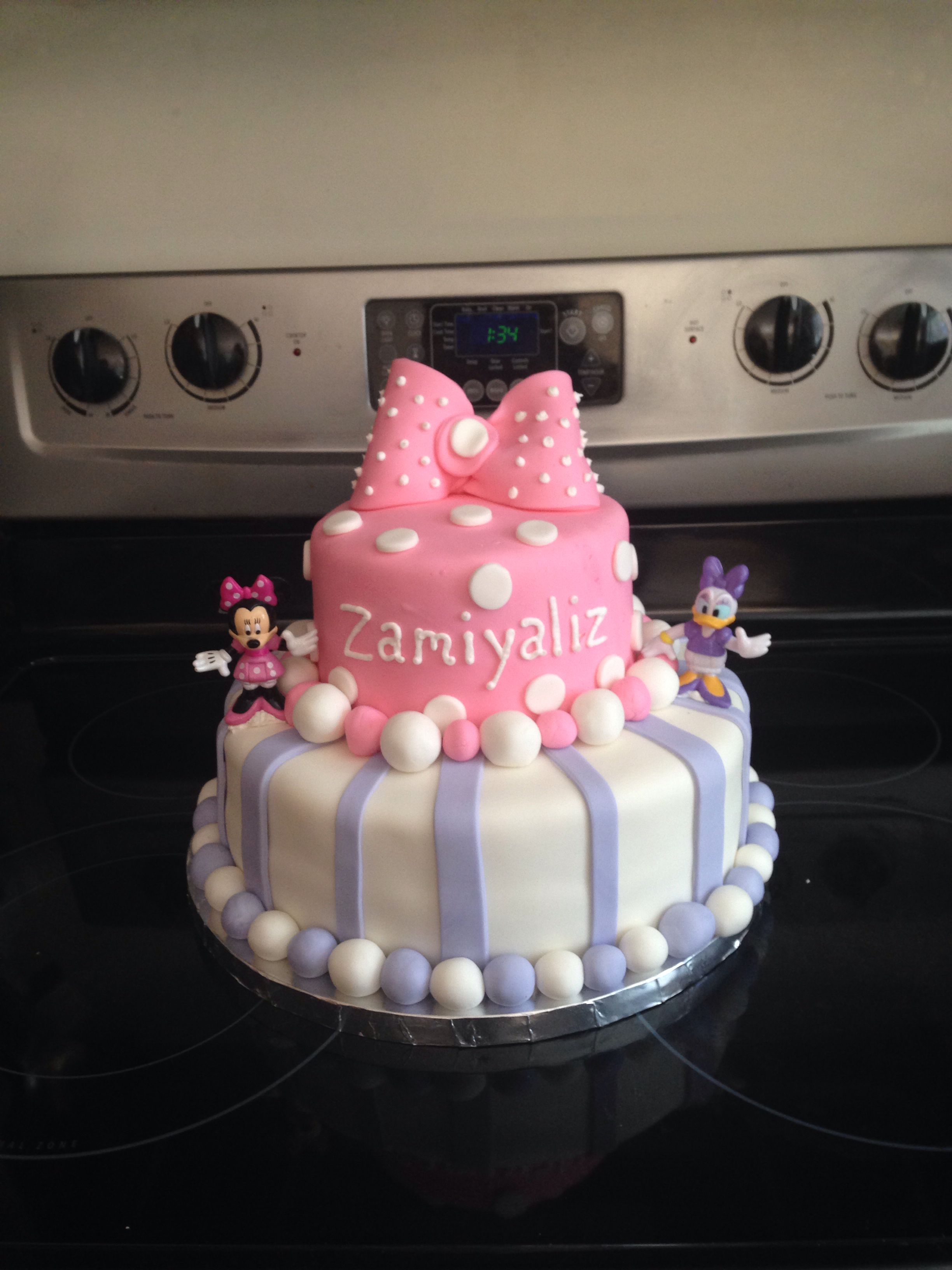 Minnie Mouse Daisy Duck Cake My Fabulous Cakes 2nd
