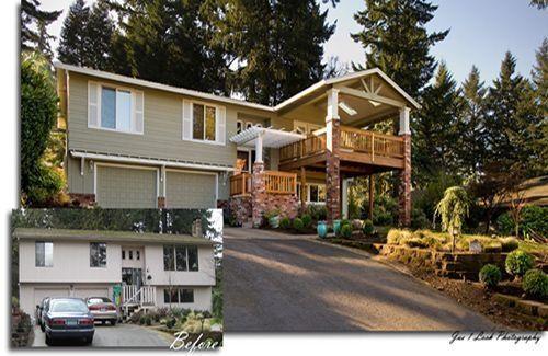 SplitLevel Remodel Before And After SplitLevel Homes Before - Home exterior remodeling before and after pictures