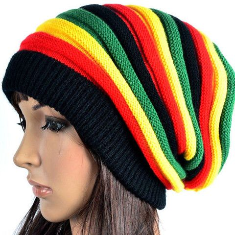 e2aa2ebb8af0a Bob Marley Jamaican Baggie Beanie Mulheres Jamaicanas