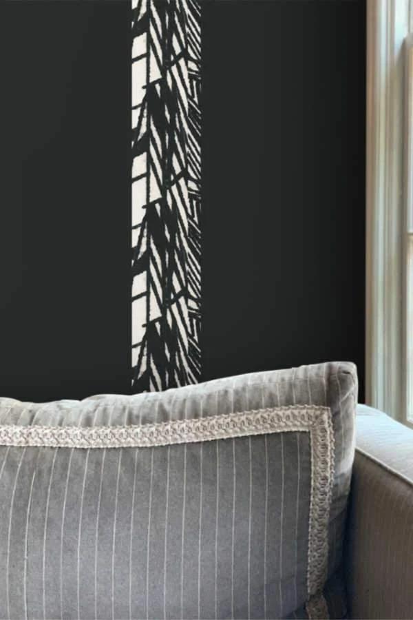 Luxe Stripe Large Black Wallpaper In 2020 Black Wallpaper Wallpaper Standard Wallpaper