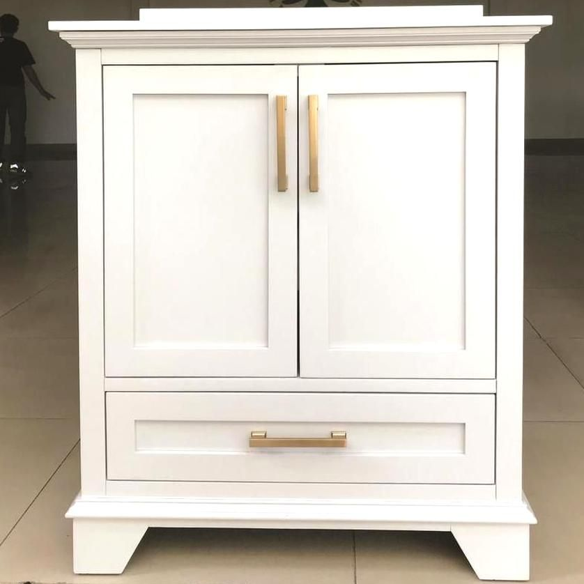 Allen Roth Hamburg 30 In White Single Sink Bathroom Vanity With Bombay White Cultured Marble Single Sink Bathroom Vanity Bathroom Sink Vanity Cultured Marble