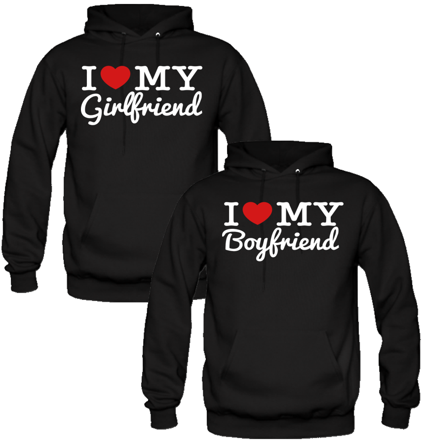 b7bd5c990c56 I LOVE MY BOYFRIEND AND GIRLFRIEND LOVE DESIGNED Couple Hoodie Matching  Hoodies
