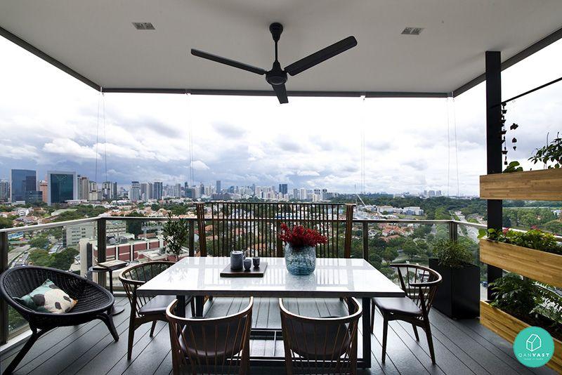 5 Ideas To Invigorate Your Hdb Condo Balcony Condo Balcony Modern Hotel Home Decor