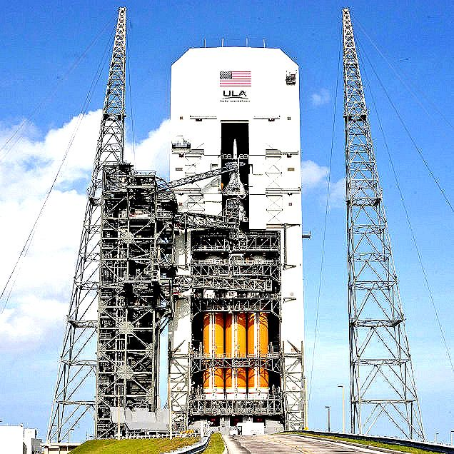 Orion Crew Module on a Delta IV Heavy Rocket being moved.  #OrionCrewModule  #DeltaIV  #NASA