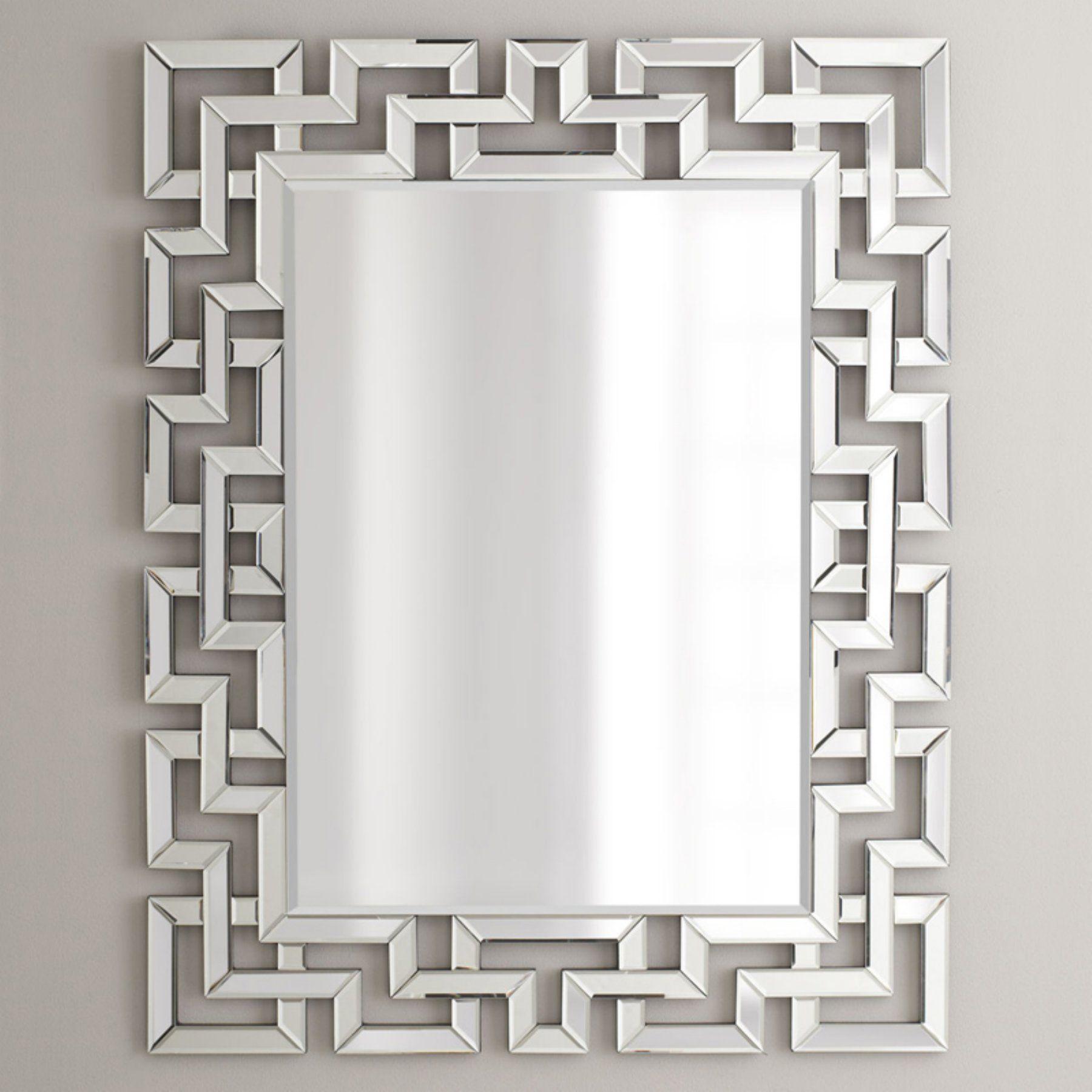 Afina Modern Luxe Rectangular Wall Mirror 32w X 42h In