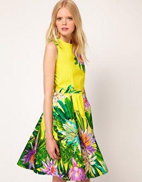 Summer tropical dresses