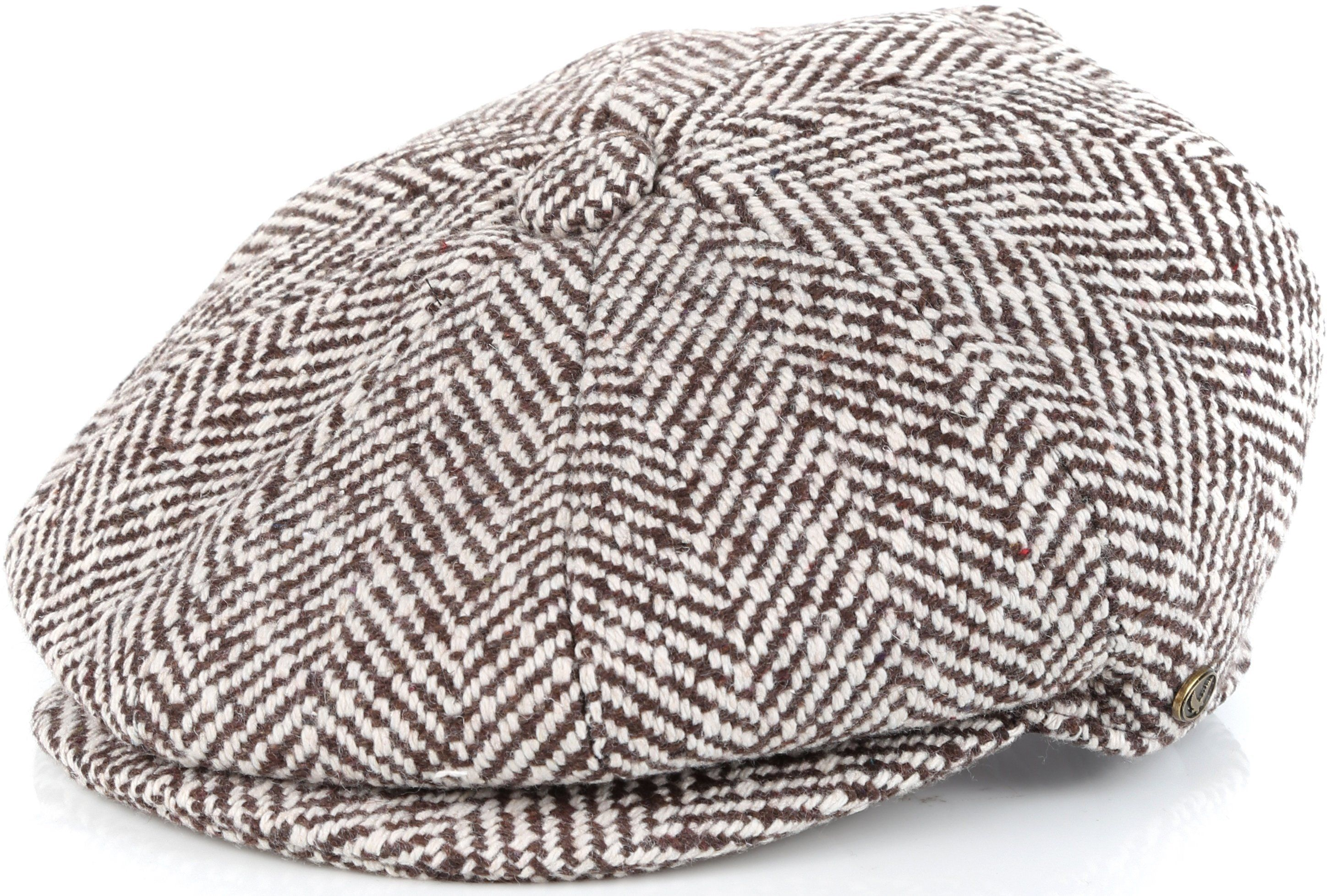 192cf86e0 Sakkas Vintage Style Wool Blend Newsboy Snap Brim Cap | Products ...