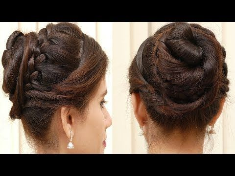 Bridal Bun Hair Style For Long Hair Easy Hair Style For Ladies 2017 Youtube Hairstyle In 2019 Hair Styles Easy Bun Hairstyles Braids For Long Hair