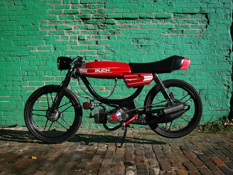 A Puch Magnum. Technically this is a moped, but since Puch was made by Piaggio, the ones who make Vespas, I had to include it into this category.