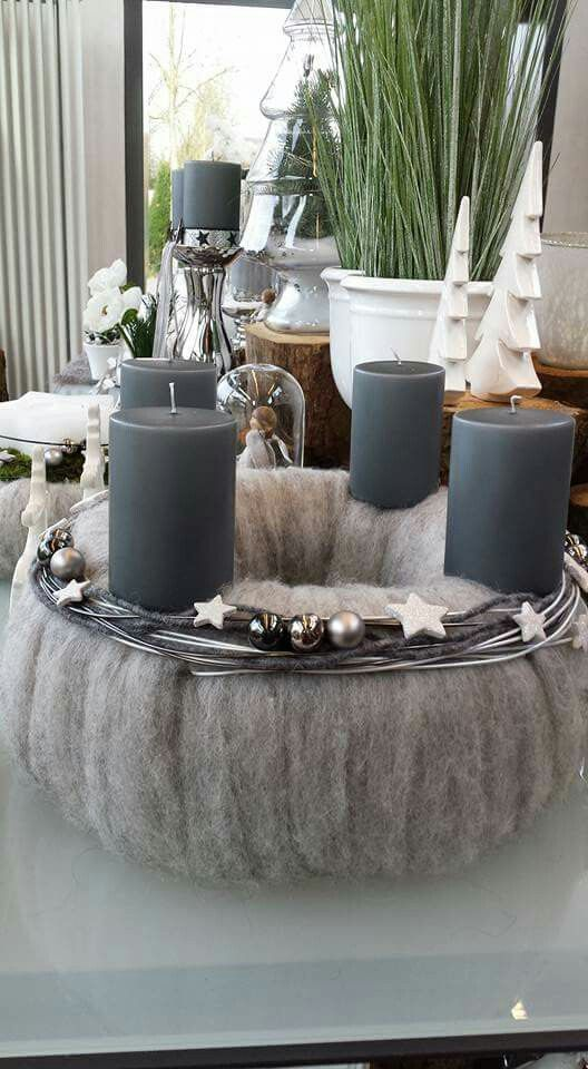 schlicht in filz bo i christmas advent wreath advent. Black Bedroom Furniture Sets. Home Design Ideas