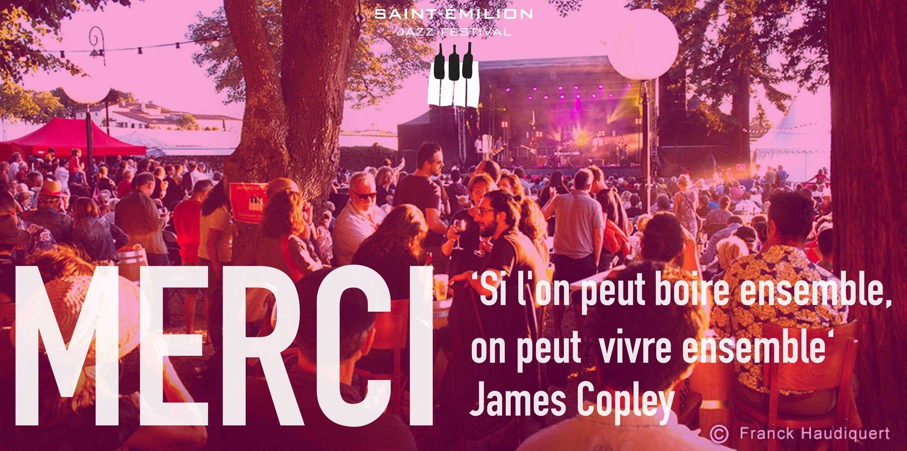 """Citation de James Copley / Electro Deluxe : """"Si l'on peut boire ensemble,  on peut vivre ensemble."""" lors du Saint Emilion Jazz…   Citations d'artiste,  Jazz, Citation"""