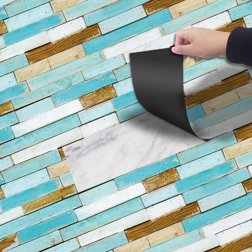 Wood Grain Floor Tiles Plank Sticker Diy Pvc Self Adhesive Waterproof Floor Sticker Kitchen Home Decor On The Wall And Floor Floor Stickers Pvc Flooring Brick Patterns [ 1000 x 1000 Pixel ]