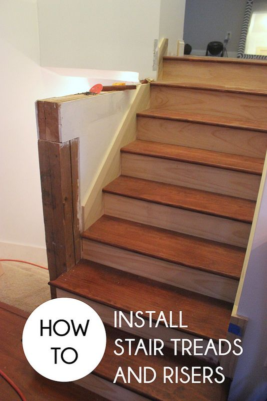 Exceptionnel Today Weu0027re Here To Show You Stage 1 Of Our Refinished Stairwell Project.:  How To Install Stair Treads And Risers. This Stairwell Is One Of The Last  Pieces ...