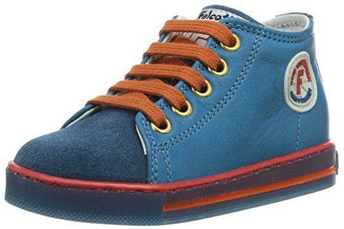 Däumling Timmy - Zapatos de primeros pasos de cuero bebé, color azul, talla 20