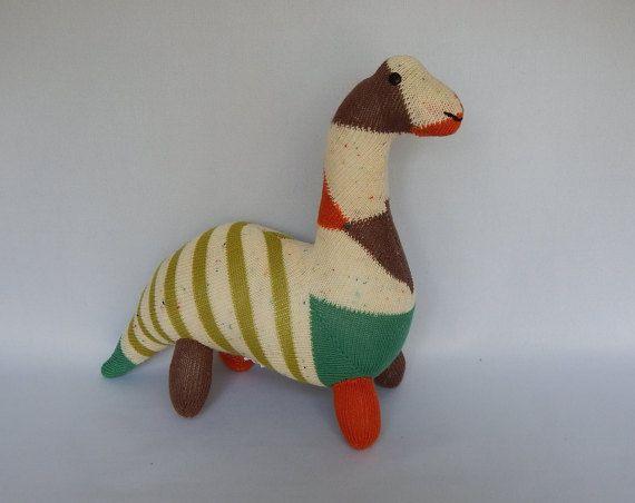 Brachiosaurus Plush Toy, Dinosaur Stuffed Animal, Dinosaur Plushie, Sock Monkey, Dino Stuffed Doll