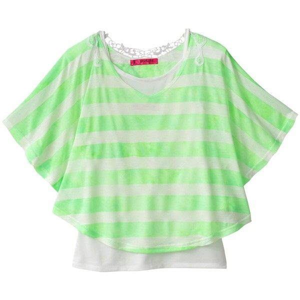 Energie Striped Poncho and Camisole Set - Girls' 7-16 (€14) ❤ liked on Polyvore featuring kids clothes, kids, 7-16, girls and kids tops