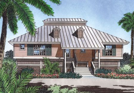 Key West Style House Plans | Plan W6383HD: Beach, Vacation House Plans U0026  Home