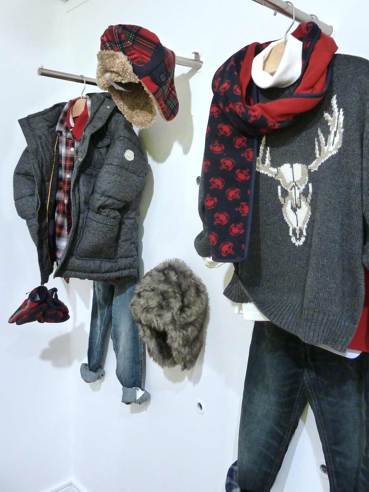 Great reindeer intarsia knit and tweedy padded coat at GapKids for Xmas 2012