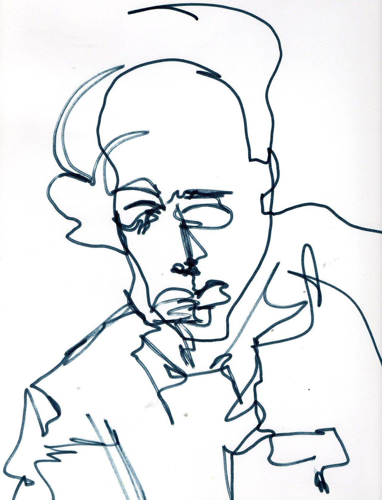 Blind Line Drawing Artists : Blind continuous line drawing peter greenhams american
