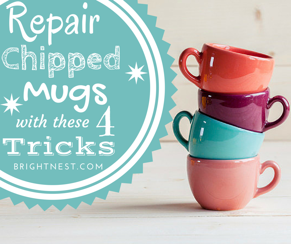 Learn How To Repair Chipped Mugs And Glasses So You Ll Never Have To Toss A Favorite Mug Chip Mug Mugs Glass Repair