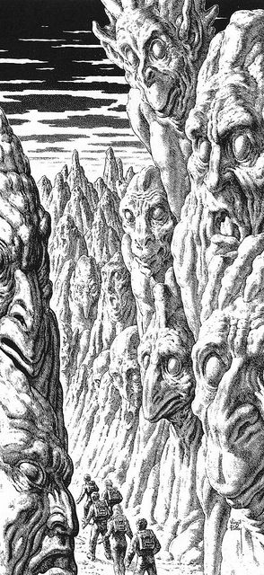 illustrator : Virgil Finlay  / by Aeron Alfrey, via Flickr