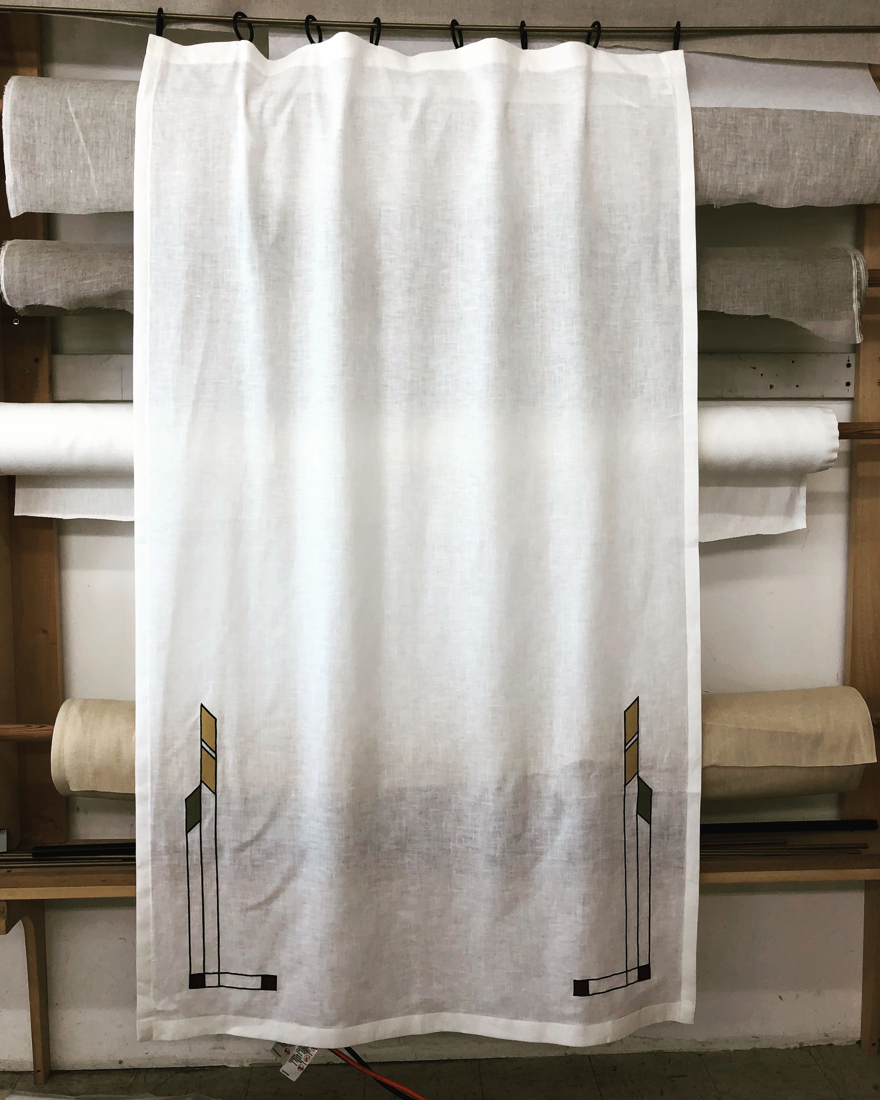 From Melton Workroom Curtain Made Of Handkerchief Linen Oyster