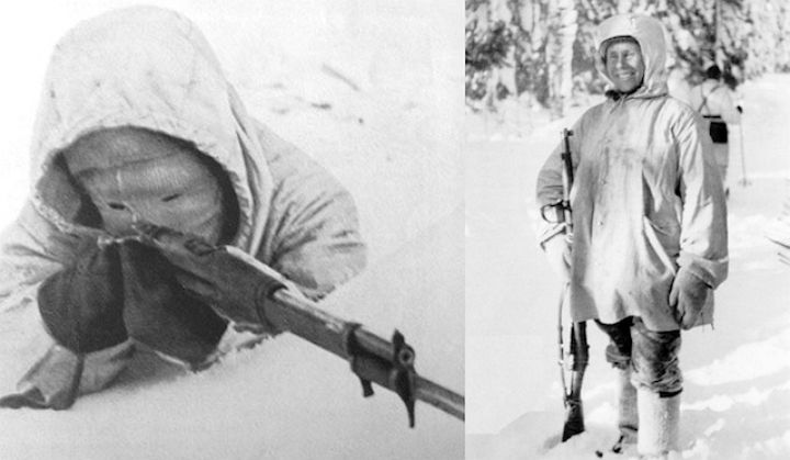Simo Häyhä, a Finnish soldier during the 1939-40 Winter War, was the deadliest sniper of all time.