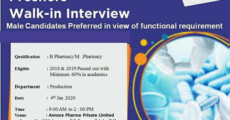 Hetero Labs walkin interview for B.Pharm / M.Pharm