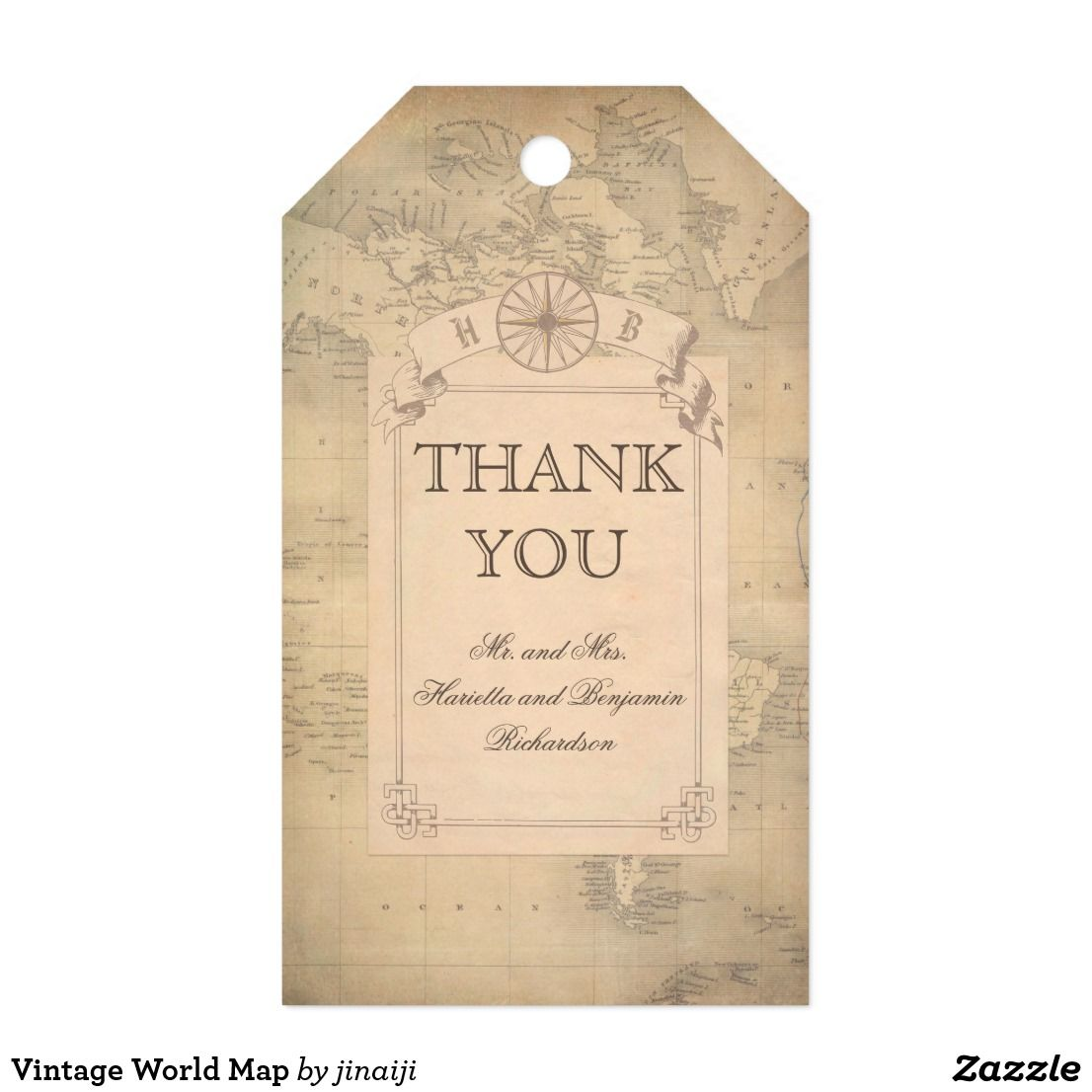 Vintage world map gift tags gumiabroncs Image collections