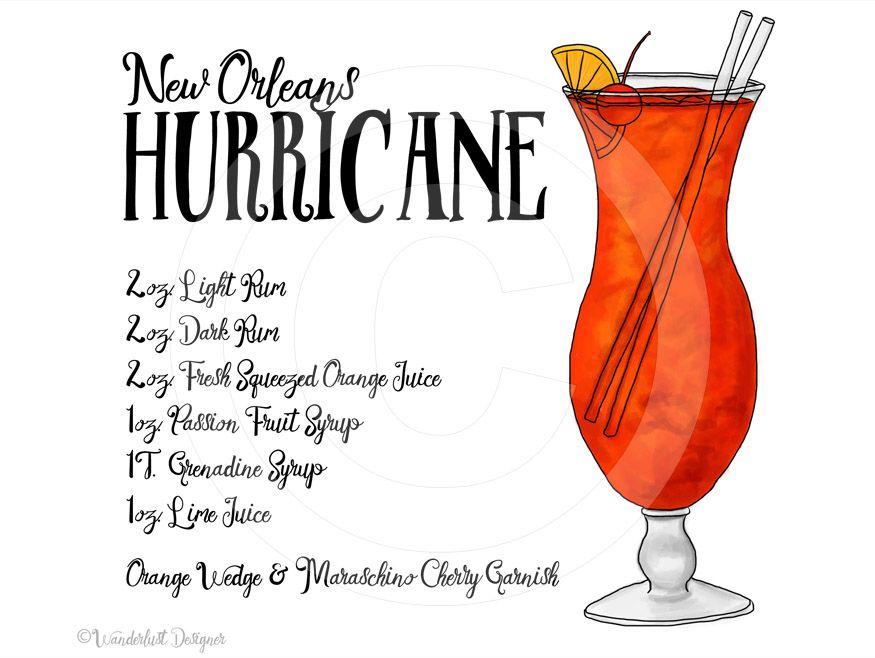 New Orleans Hurricane #hurricanefoodideas