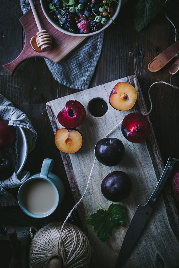 Plum & Summer Berry Lavender Crisp |by Eva Kosmas Flores