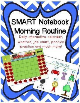 Daily interactive calendar weather  morning routine not also notebook file rh pinterest