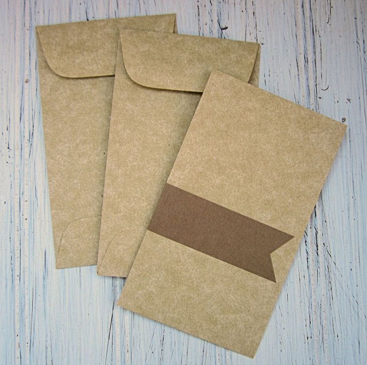 25 Aged Coin Envelopes, Parchment Envelope, Business Card Envelopes ...