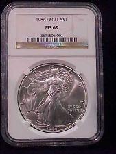 1986 Silver American Eagle Ngc Ms 69 Nice Original Priced 2 Sell With Images Ngc American Eagle Silver