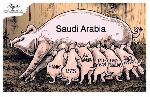 America knows S. Arabia funded 9/11 & other SUNNI terrorists like #ISIS (their Al Qaeda offspring).  #OIL INTERESTS