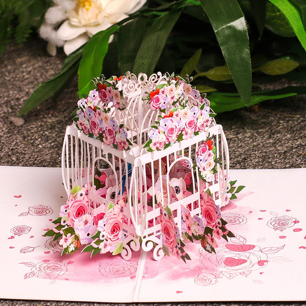 Love Bird Cage Pop Up Card Follow Us If You Like Charmpopcards Popup Weddinggift Love In 2021 Wholesale Greeting Cards Pop Up Cards Valentines
