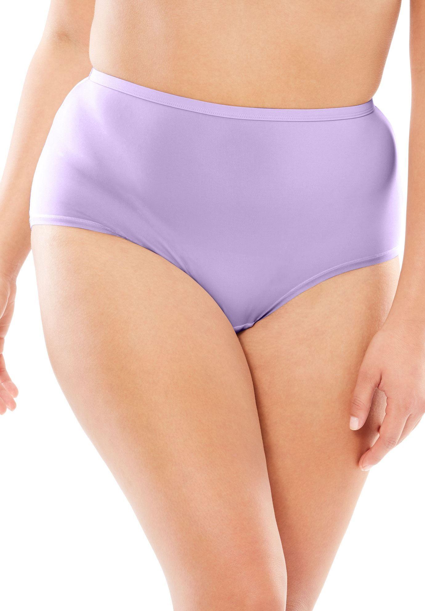 10 PACK Ladies Hi-Leg Briefs Cotton Comfort Knickers Regular Underwear Lingerie