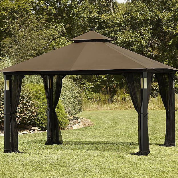 Grand Resort 10 X 12 Lighted Gazebo With Integrated Speaker