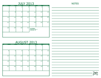 2 Month Calendars For 2013 2015 Free Printable Calendar Templates Calendar Template Printable Calendar Template