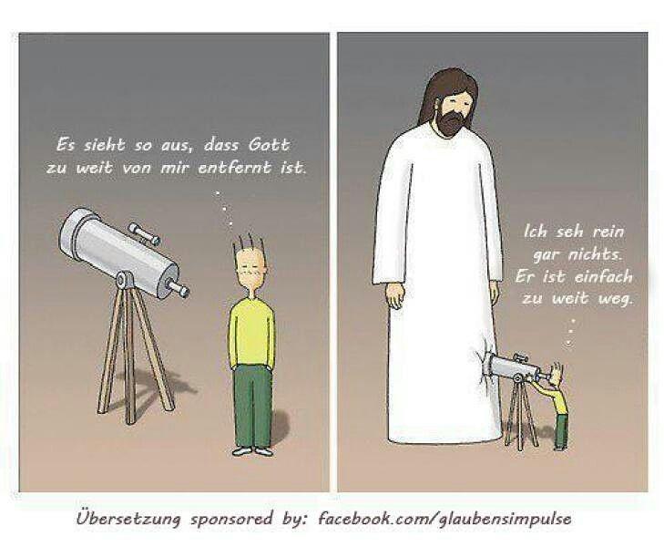 """""""Es sieht so aus, dass #Gott zu #weit von mir #entfernt ist. Ich #seh rein #gar nichts. Er ist einfach #zu weit weg."""" #glaubensimpulse"""