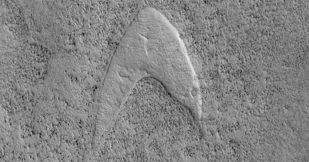 NASA Finds 'Star Trek' Starfleet Logo on Mars Continuum